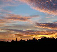 Sunrise in Spiegel, Switzerland by Marika Siegenthaler