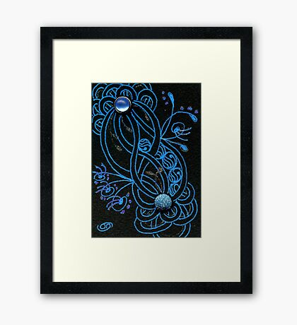 Blue Quib Framed Print