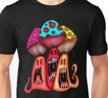 Angry Mushrooms Unisex T-Shirt