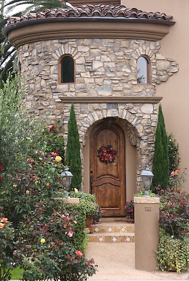 Entrance to a Modern Castle!! ( Looks Like a face to me!!)  by Heather Friedman