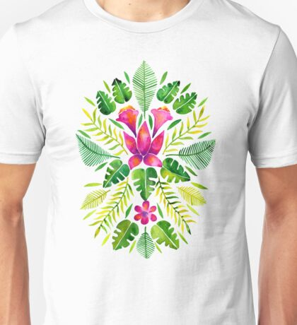 Tropical Symmetry – Pink & Green Unisex T-Shirt