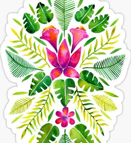 Tropical Symmetry – Pink & Green Sticker