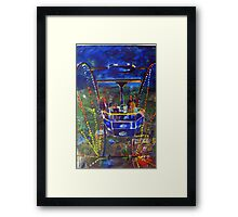 GYMPIE MUSTER - COLLECTION -  FERRIS WHEEL BLUES Framed Print