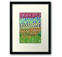 Wild Birthday Cake Zentangle Framed Print