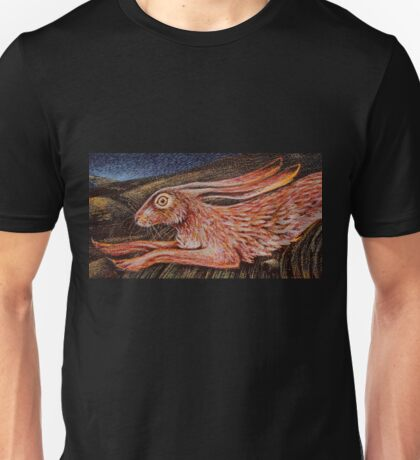 Running Hare by Lucy Everitt Unisex T-Shirt