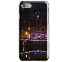 Magical, Sparkling Amsterdam Canals and Bridges at Night iPhone Case/Skin
