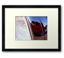 Reflection in the Headlight Framed Print