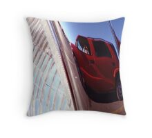 Reflection in the Headlight Throw Pillow
