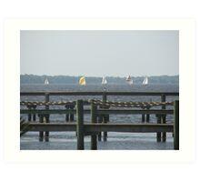 Sail Boat Racing  Art Print
