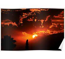 Summer Sunset California Poster
