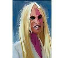 Portrait of Donatella Versace Photographic Print