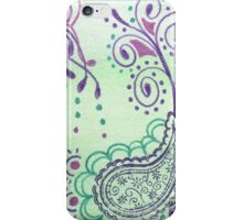 Mint Paisley iPhone Case/Skin