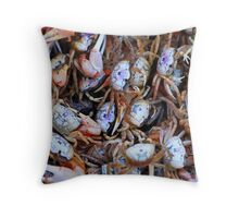 Crabby Crabs Throw Pillow