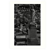 Grave at Cemetery Art Print
