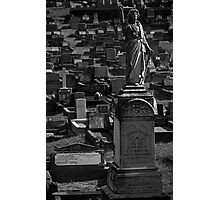 Grave at Cemetery Photographic Print