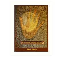A Wound Forever Closed  Art Print