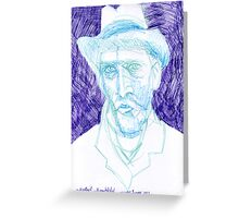Vincent with grey felt hat spring or summer 1887 Greeting Card