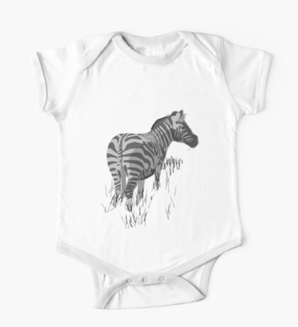 Zebra One Piece - Short Sleeve