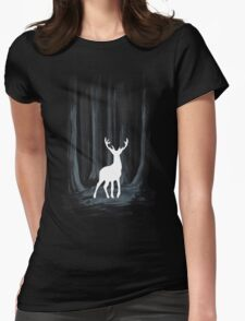 Glowing White Stag Womens Fitted T-Shirt
