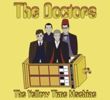 The Yellow Time Machine (Plain Background) Kids Tee