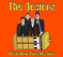 The Yellow Time Machine (Plain Background) Kids Clothes