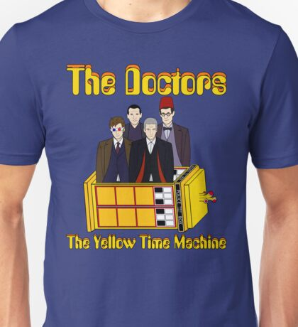 The Yellow Time Machine (Plain Background) Unisex T-Shirt