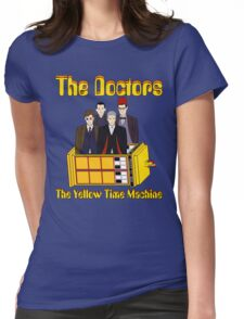 The Yellow Time Machine (Plain Background) Womens Fitted T-Shirt