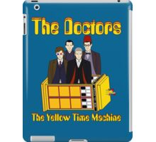 The Yellow Time Machine (Plain Background) iPad Case/Skin