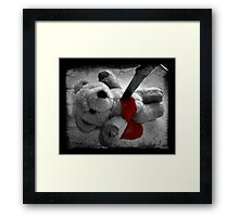 don't play with knives Framed Print