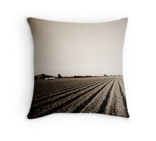Freshly Tilled Fields - California Throw Pillow