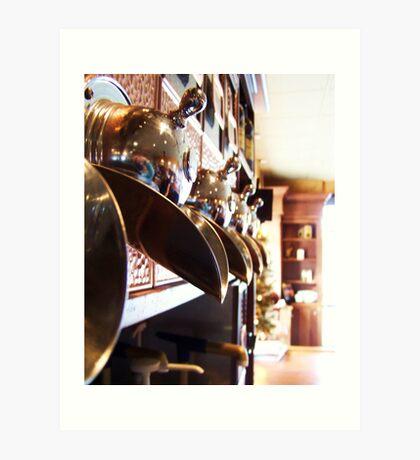 Copper hammered coffee bins Art Print
