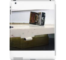camera door, photograph, temporary assemblage  iPad Case/Skin