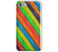 Colorful rainbow licorice iPhone Case/Skin