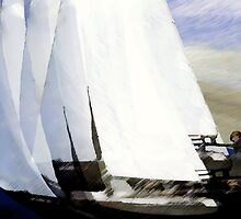 yachts #81, racing oneself.. an abstract on the open sea by banrai