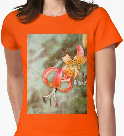 Wild Turk's Cap Lily Womens Fitted T-Shirt