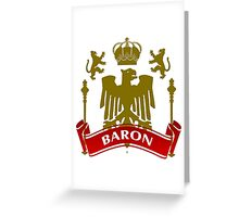 Fit For A Baron Coat-of-Arms Greeting Card