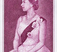 Queen Elizabeth - 1964 0433 Royal Visit Issue Postage Stamp by Deb Richardson