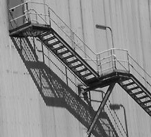 Factory Fire Escape by carmel riordan