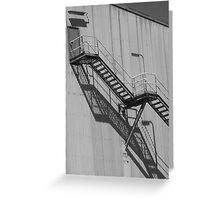 Factory Fire Escape Greeting Card