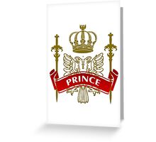 Fit For A Prince Coat-of-Arms Greeting Card