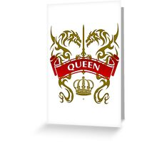 Fit For A Queen Coat-of-Arms Greeting Card