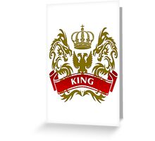 Fit For A King Coat-of-Arms Greeting Card
