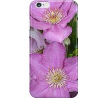 Purple clematis flowers iPhone Case/Skin