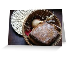 Bread and breakfast Greeting Card