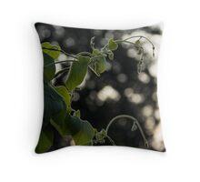 Natural Swirls Throw Pillow