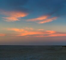 Lake Eyre Sunset by Matt Harvey