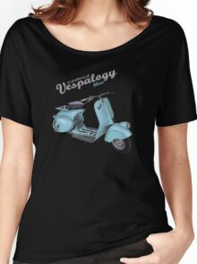 Scooterist Vespalogy (blue) Women's Relaxed Fit T-Shirt