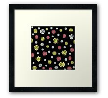 Colorful daisy flower pattern Framed Print