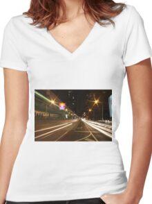 Speed of light Women's Fitted V-Neck T-Shirt