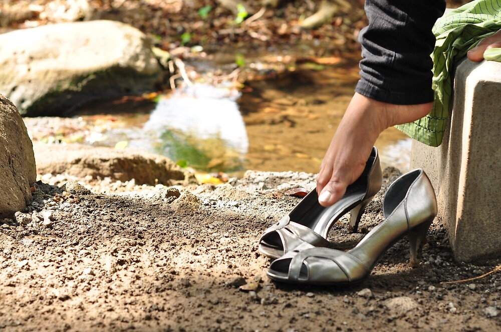 Silver Shoes by the River by Jinny Chataroo